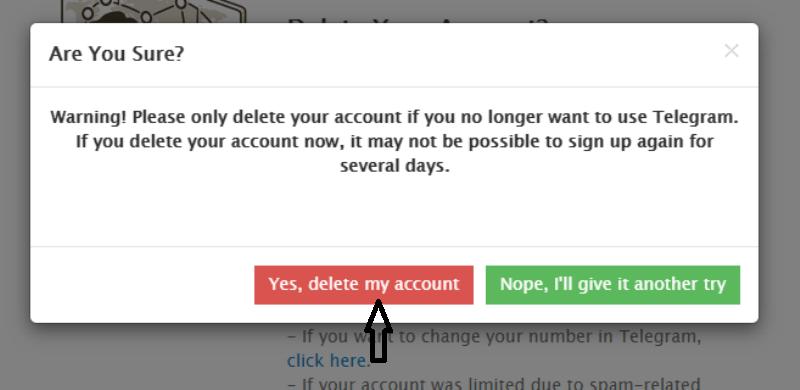 telegram account ko delete kaise kare